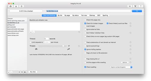 Integrity Pro Mac 破解版 网站死链清理优化检测器