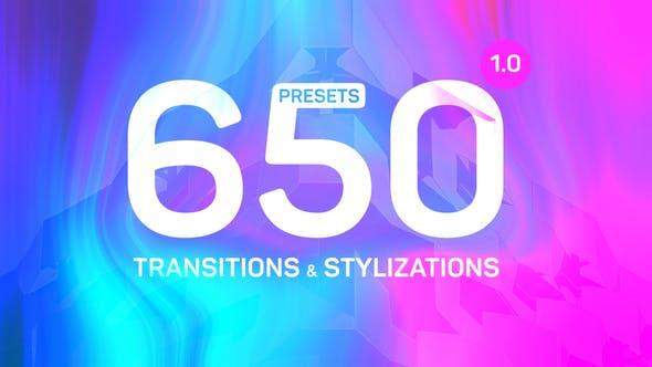PR预设-650种运动失真变形拉伸扭曲转场和数字信号干扰画面破损发光视觉特效+音效