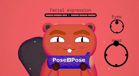 卡通人物面部绑定MG动画制作工具 Pose2Pose V1.1.0及使用教程
