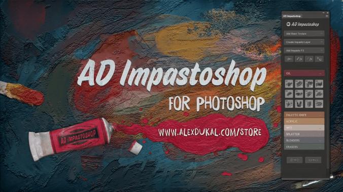 AD Impastoshop中文汉化版-PS厚涂绘画笔刷扩展插件(含教程)