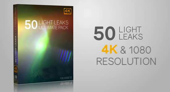 50个漂亮精致镜头漏光炫光动画视觉效果素材包