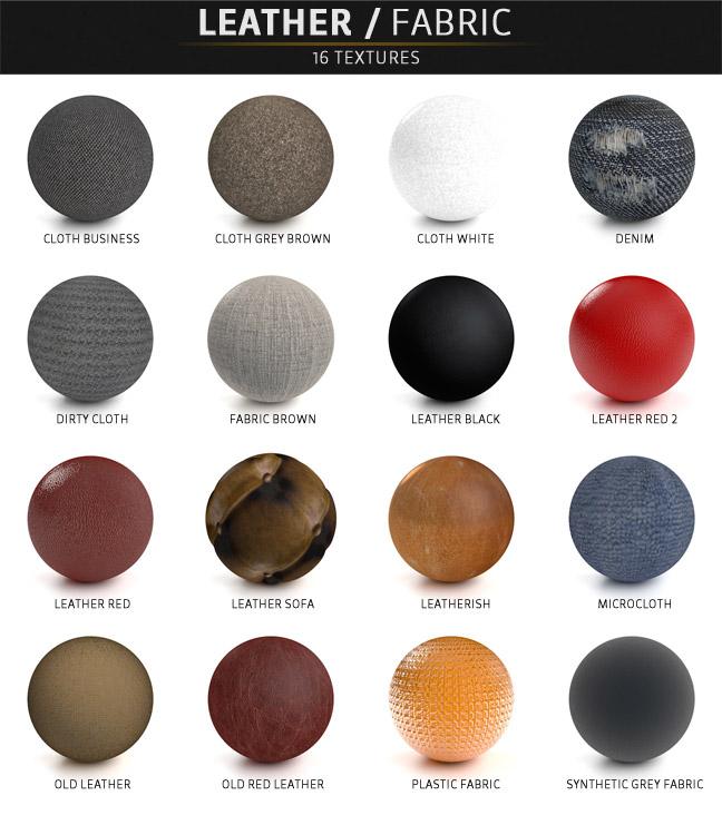 几百个包含不同分类的C4D质感材质纹理素材包下载