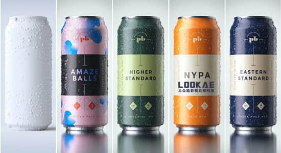 灰猩猩GSG商业广告饮料易拉罐产品C4D三维渲染教程