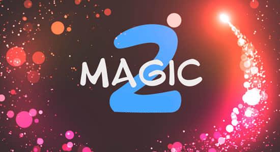 25个唯美漂亮魔法粒子转场过渡PR预设模板Magic Transitions 2