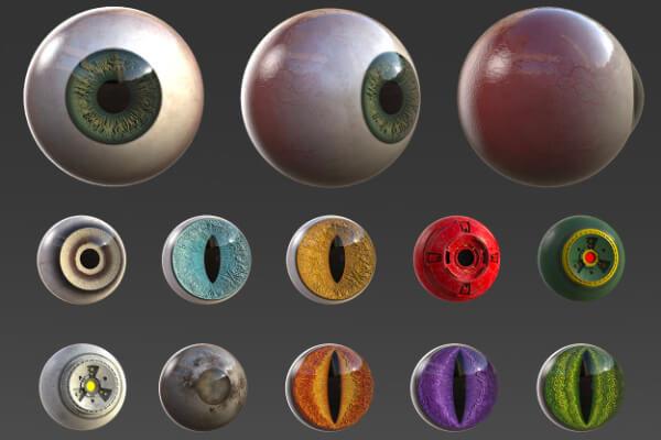 55个ZBrush 卡通眼睛样机素材 V1.0