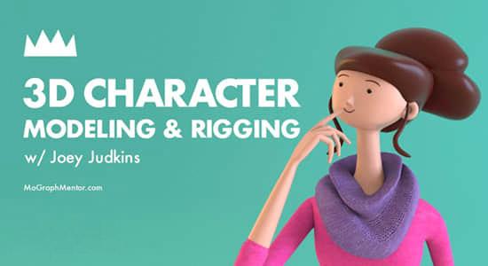 C4D三维卡通人物角色建模绑定动画制作教程