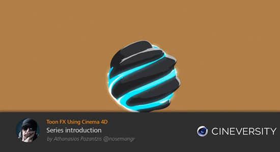 C4D教程-三维动漫卡通元素特效动画