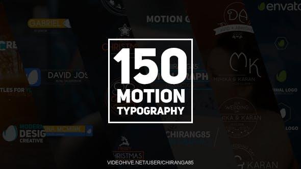150个现代简洁商务圣诞节婚礼LOGO字幕条标题AE动画模板