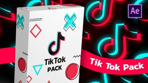 手机抖音点赞关注转发竖屏图文包装AE模板界面动画TikTok