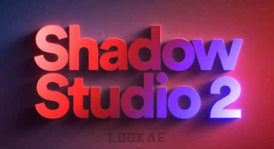 精致华丽真实阴影拖尾投影AE中文汉化插件Shadow Studio V2 Win破解版+使用教程