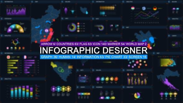 490个商务公司报表信息图表演示解说AE动画模板