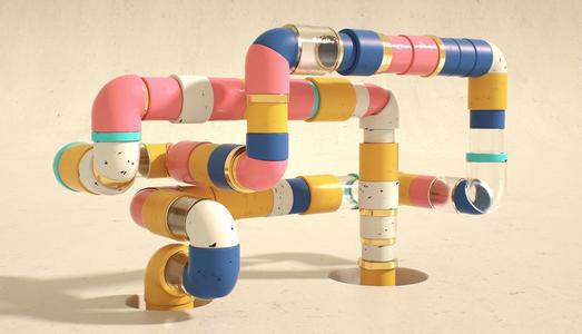 C4D管道模型管子素材模型