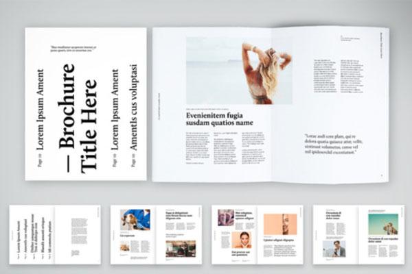黑白色调极简版式杂志风格VI设计模板