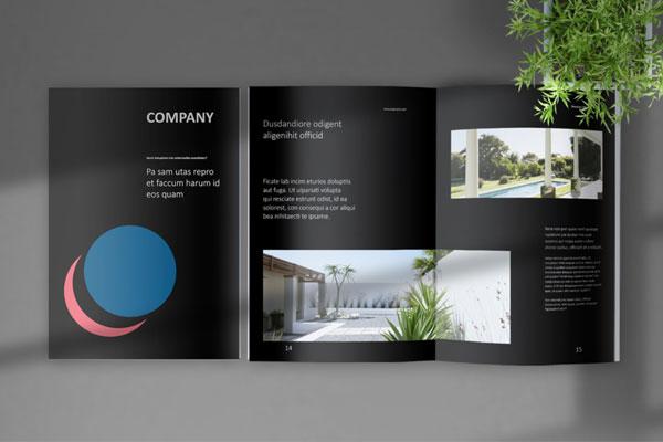 暗黑色主题企业宣传册VI设计模板