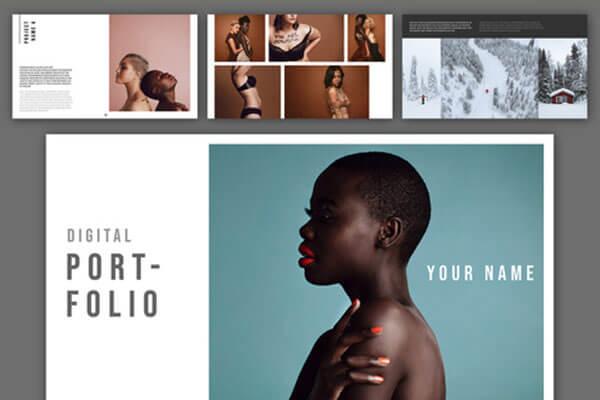 一套非常优雅图片作品集排版版式杂志设计模板