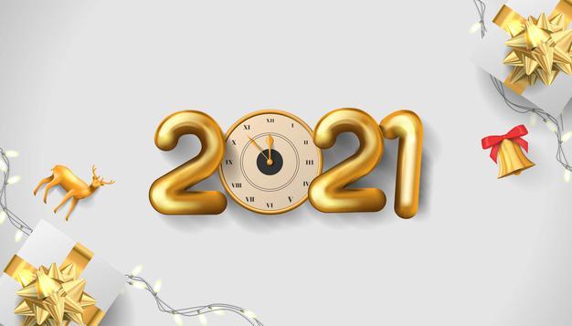 2021新年快乐金色数字背景矢量素材