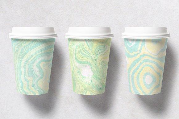 25个色调清新柔和的大理石纹理图形素材