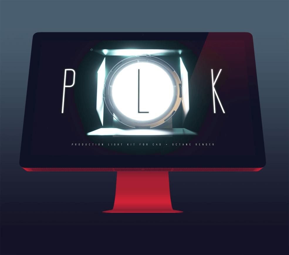 一套C4D摄影棚Octane灯光预设V1.2创意场景3D素材模型
