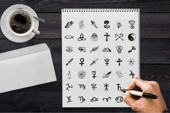 神圣魔法元素占星术矢量插画ICON素材