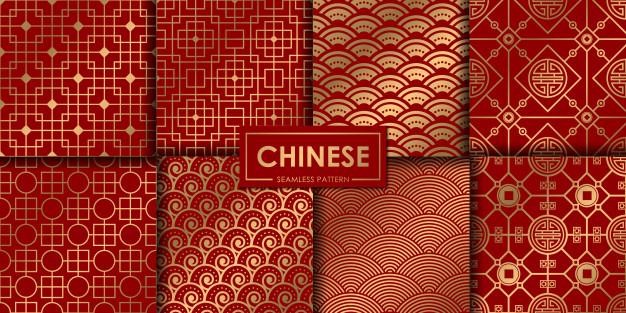 非常传统的中式国潮图案背景素材