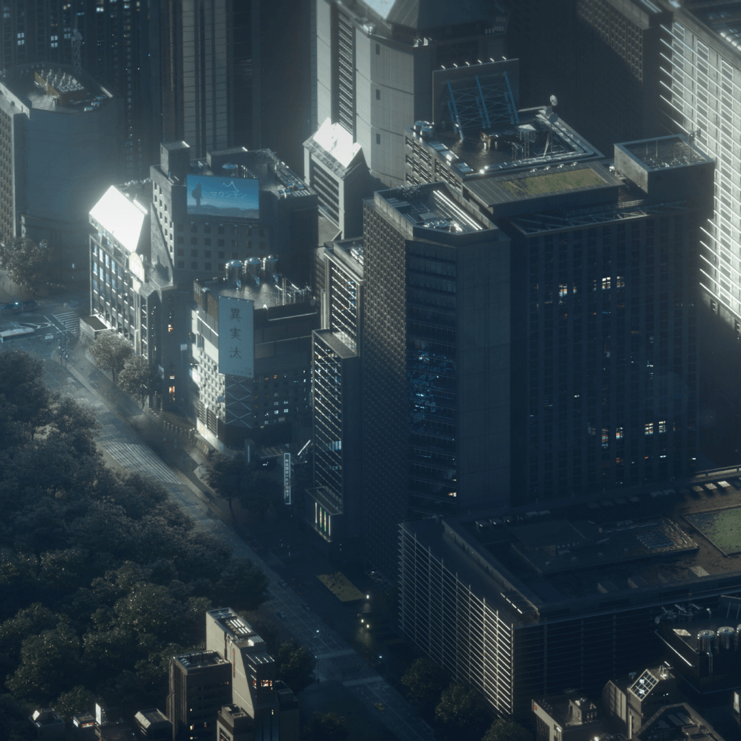 Kitbash3D NeoTokyo2新东京2科幻城市建筑C4D模型素材包