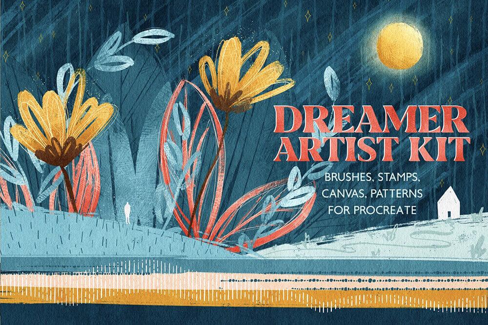 梦想家艺术家系列Procreate笔刷素材包