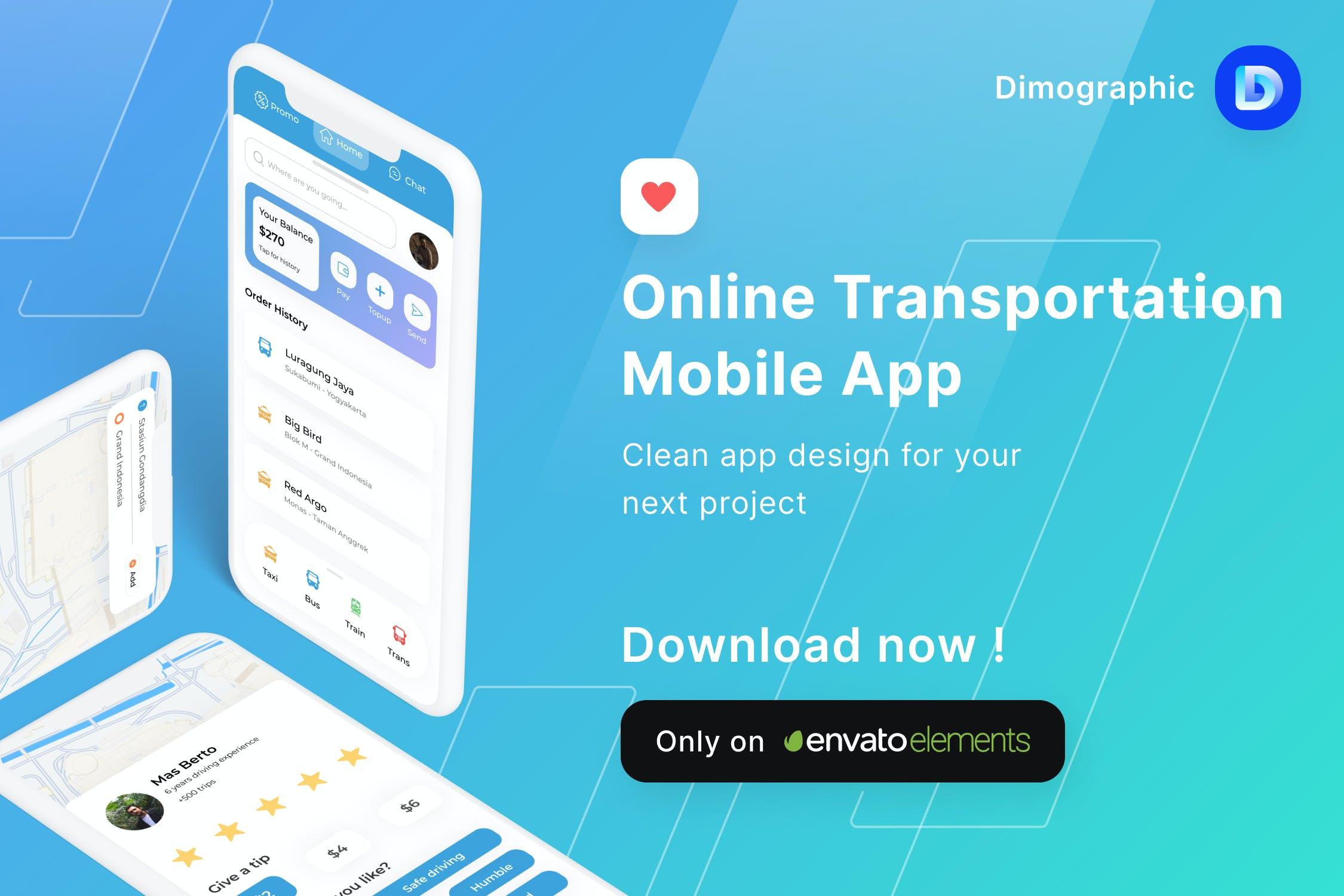 在线交通旅游评级电商类APP UI素材包