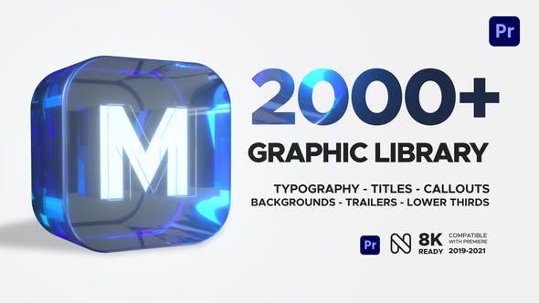 2000种时尚文字标题图形设计排版字幕条转场调色音效预设包