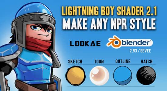 Blender插件-卡通风格高效着色器 Lightning Boy Shader 2.1