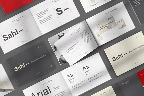 24页深灰色A4简洁VI手册素材模板