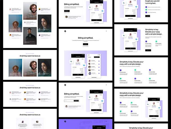 110个设计完美的初创公司SaaS后台管理中台网站素材包