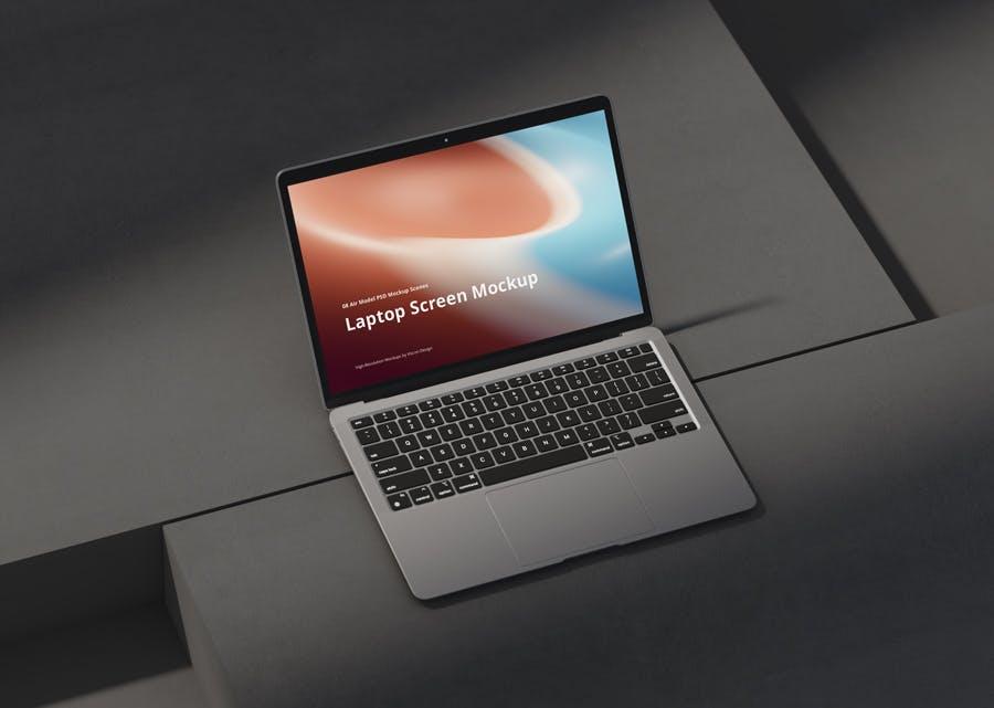 一套高品质MacBook Air样机PSD素材包