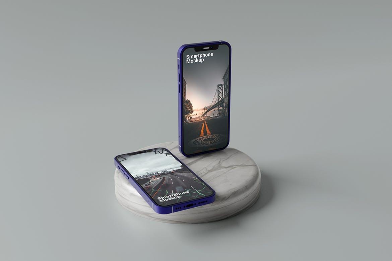 一套高端手机产品展示PSD素材