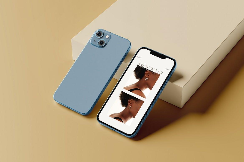 高端iPhone 13手机产品PSD模型素材