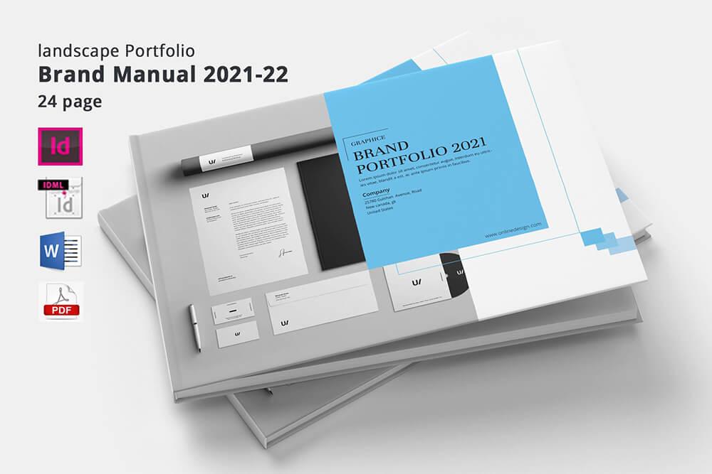 24页产品目录宣传册手册版式模板