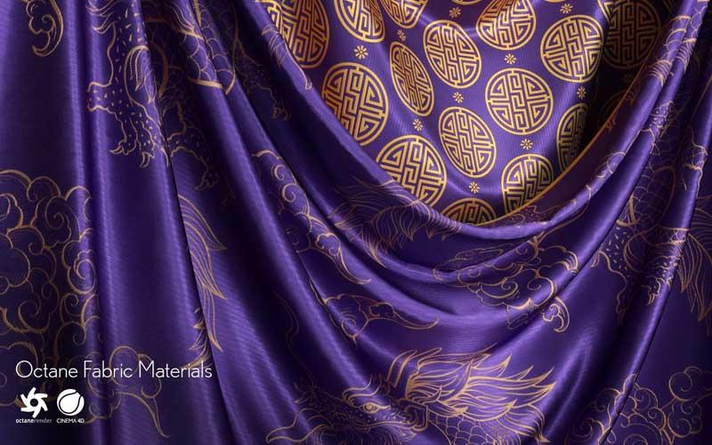 50种不同布料面料Octane材质预设绸缎丝绸亚麻地毯迷彩布料贴图素材
