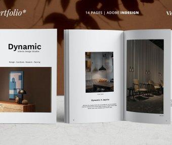 时尚高端简约作品集品牌手册宣传册设计模板